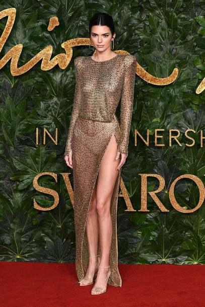 dress gold metallic kendall jenner kardashians model slit dress see through see through dress sexy dress