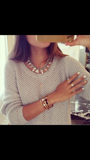 sweater jewels jewelry bracelets stacked bracelets arm candy