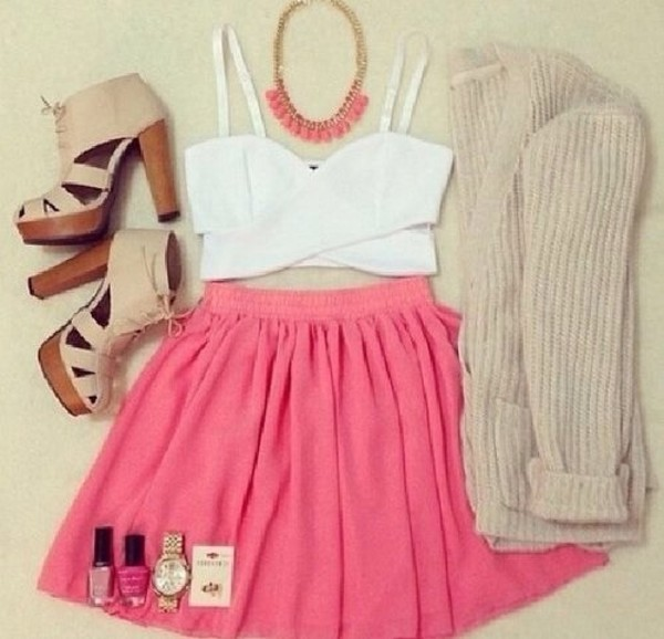 dress jewels jacket shoes blouse crop tops crop tops white