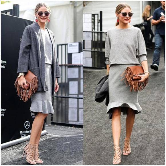 top skirt olivia palermo fashion week 2014