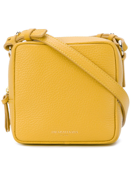 Sara Battaglia women bag shoulder bag leather yellow orange
