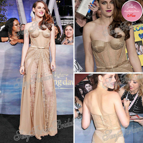 kristen stewart dress sexy long dress lace celebrity style