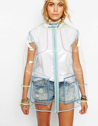 coat nastygal clear raincoat