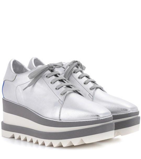 Stella McCartney sneakers platform sneakers silver shoes