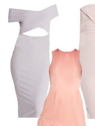 dress white dress pastel dress off the shoulder dress bodycon dress