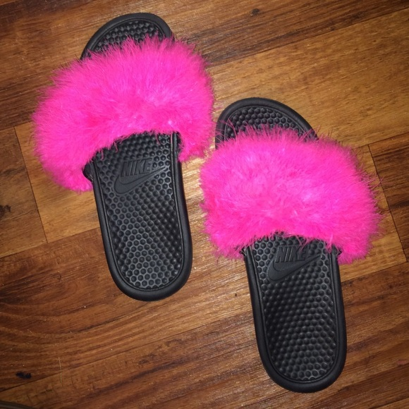 10% off Nike Shoes - Fluffy slides from Ilyn's closet on Poshmark
