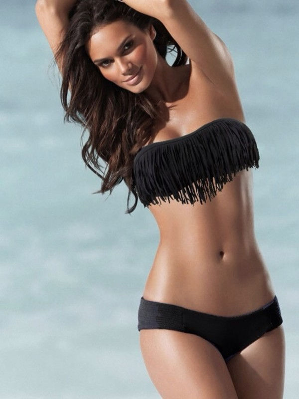 swimwear black so awesome summer