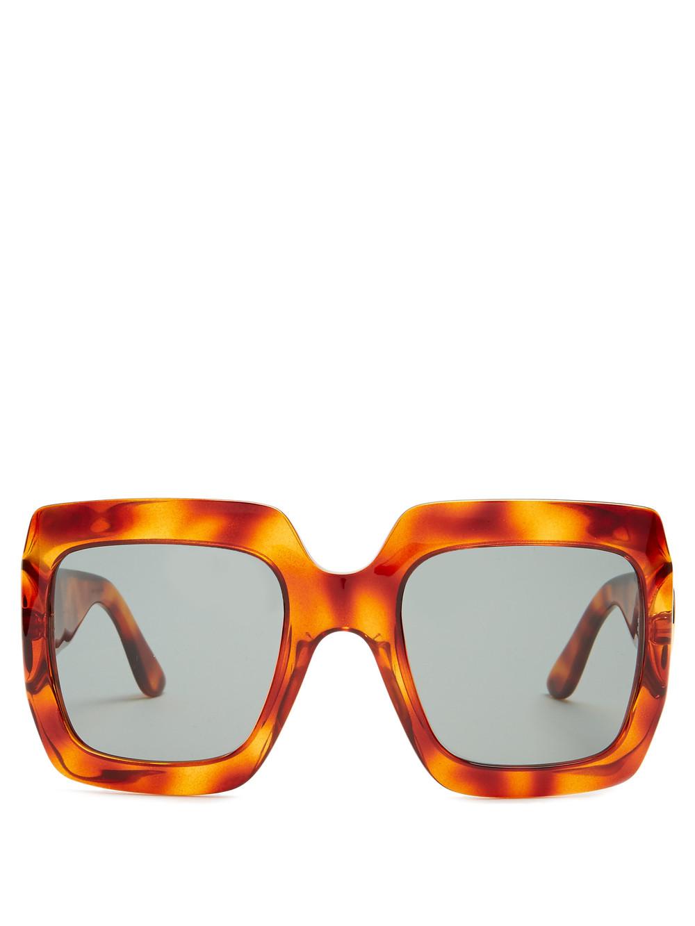 SOJOS Fashion Oversized Sunglasses for Women Square Frame