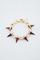 Gold/purple single row spike bracelet