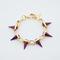 Joomi lim - gold/purple single row spike bracelet