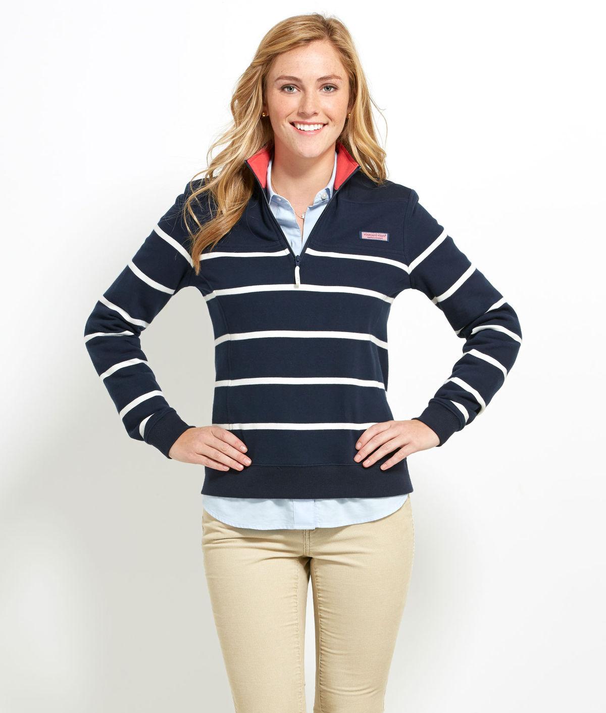 4be75f4dab4943 Vineyard Vines | Women's Shep Shirts & Pullovers | Striped Shep Shirt- Navy