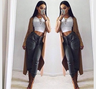 pants jeans jacket blouse top crop tops heels boots shoes shirt long cardigan cardigan cargo pants high heels high waisted jeans