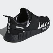 shoes,adidas shoes,adidas nmd,black,the neighbourhood