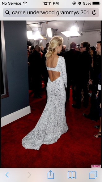 dress evening gown carrie underwood