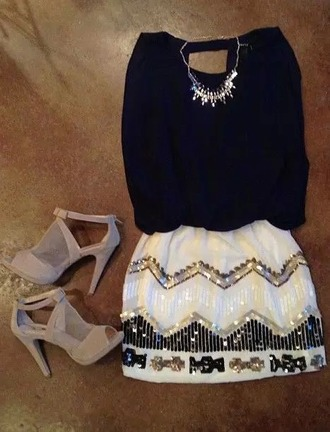 dress black dress glitter dress glitter white glitter dress shoes
