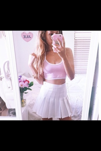 tank top crop crop tops style tumblr outfit tumblr tumblr clothes tumblr girl pretty girly low neckline strappy white crop tops white top pastel