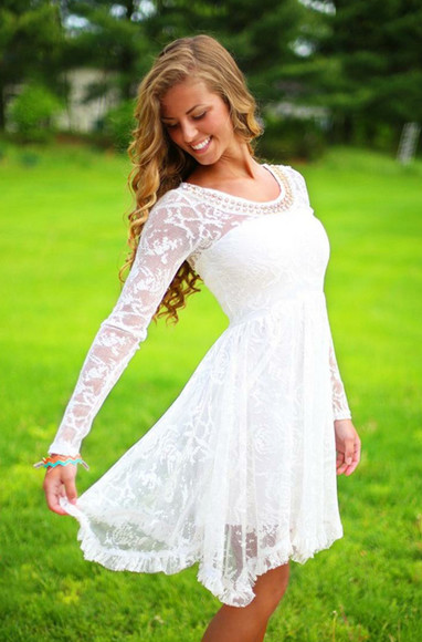 white dress lace dress white