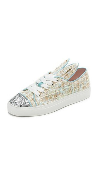glitter bunny pale sneakers silver blue silver glitter shoes