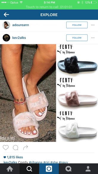 shoes rihanna puma girl pink black white