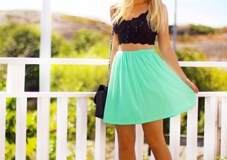 top turquoise crop tops tumblr outfit