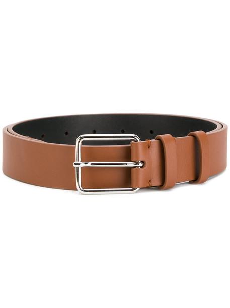 Jil Sander women classic belt leather brown
