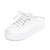 Opening Ceremony Cici Lace Up Leather Slides - White