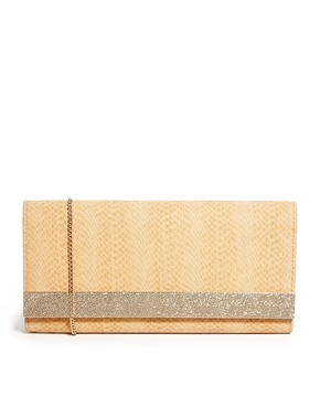 New Look | New Look – Bashed – Clutch mit Metallstab bei ASOS