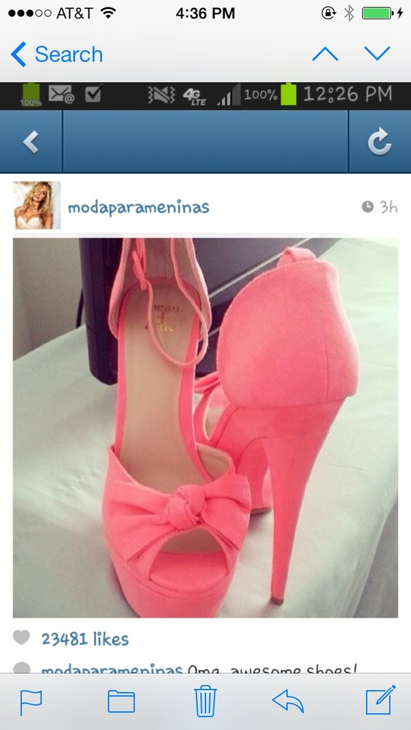 shoes baby pink high heels