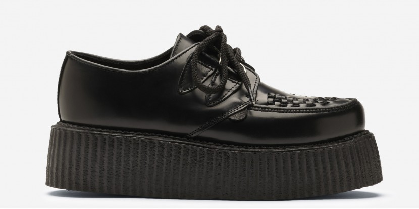 Underground Shop | Double Sole Wulfrun Creepers Black Leather | Shoes,Creepers,Underground,England