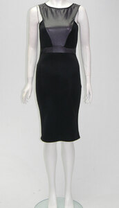 dress,womens leather look sleeveless midi dress with back zip fastening  black