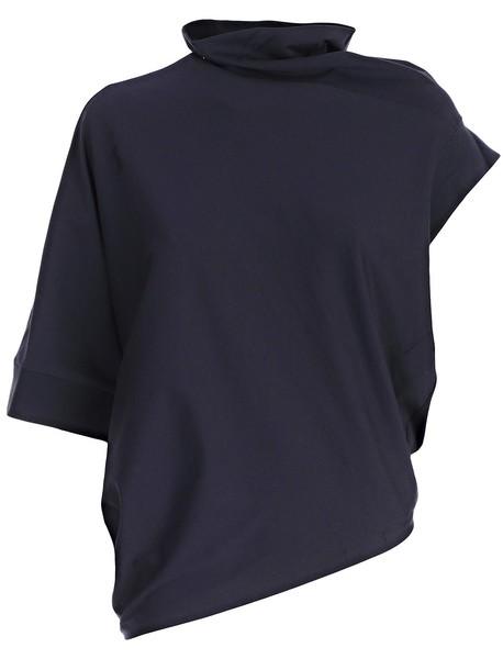 MAISON MARGIELA t-shirt shirt t-shirt short navy top