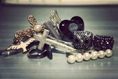 cross,bow,jewels