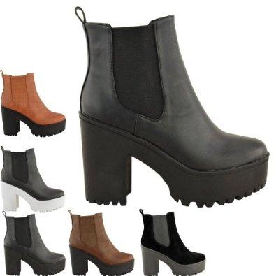 Kompakte Profilierte Sohle High Heel Damen Stiefeletten BQeWrdoCxE
