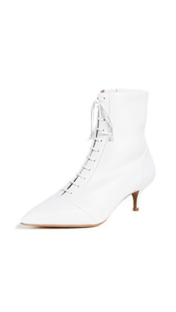 tabitha simmons heel booties white shoes