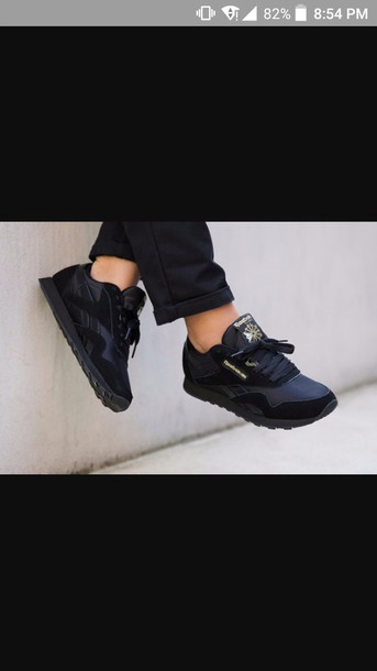 2ecba2f6f83 shoes Reebok reebok classic reebok classic leather black shoes black nike  adidas gold black and gold