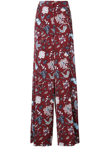 high women red pants