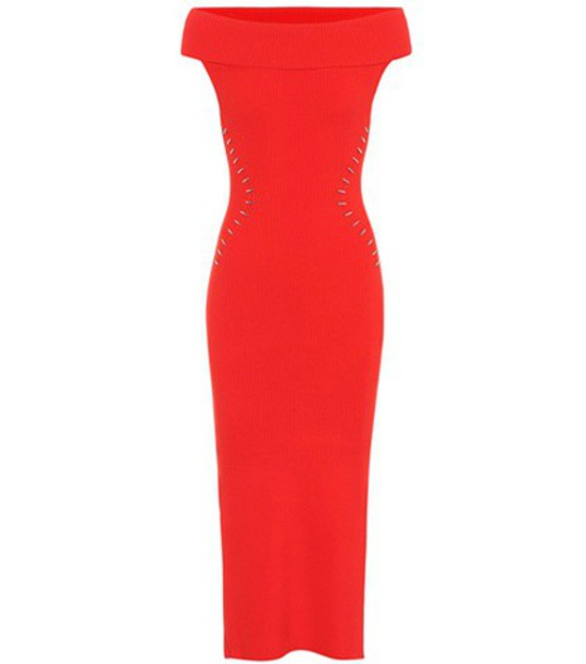 MUGLER dress red