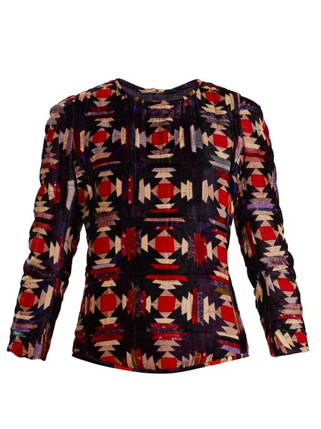 Isabel Marant top velvet top velvet red
