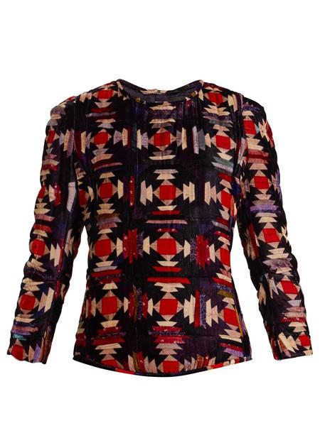 Isabel Marant top velvet top velvet red
