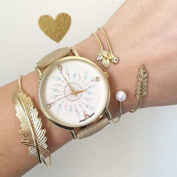 Jewels dreamcatcher watch feathers vintage watches online shopping wheretoget for Watches for girls