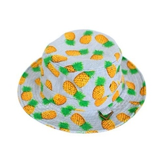 hat bucket hat pineapple print cool