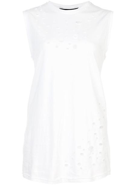 Thomas Wylde - Tumble top - women - Cotton - XS, White, Cotton