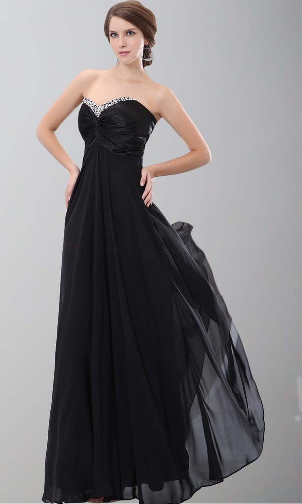 long prom dress empire waist dress black prom dress aline sweetheart dress long formal dress sequin neck dress