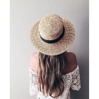 hat lack of color festival coachella festival hat summer hat revolveme straw hat revolve clothing