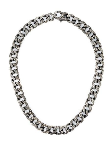 Stephen Webster chain necklace women necklace grey metallic jewels