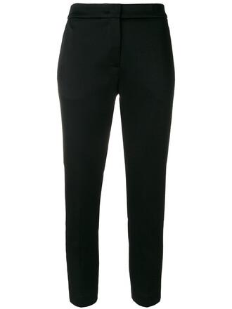cropped women black pants