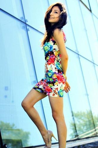 Cute flower hot dress