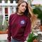 Sweaters   sweatshirts woman : nasa oxblood sweatshirt long