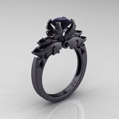 jewels,ring,matte black,dark purple,enchanting,black gems