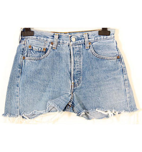 denim vintage levis shorts